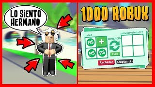 MY BROTHER SCAM ME 1000 ROBUX (SOCIAL EXPERIENCE) ADOPT ME - Roblox