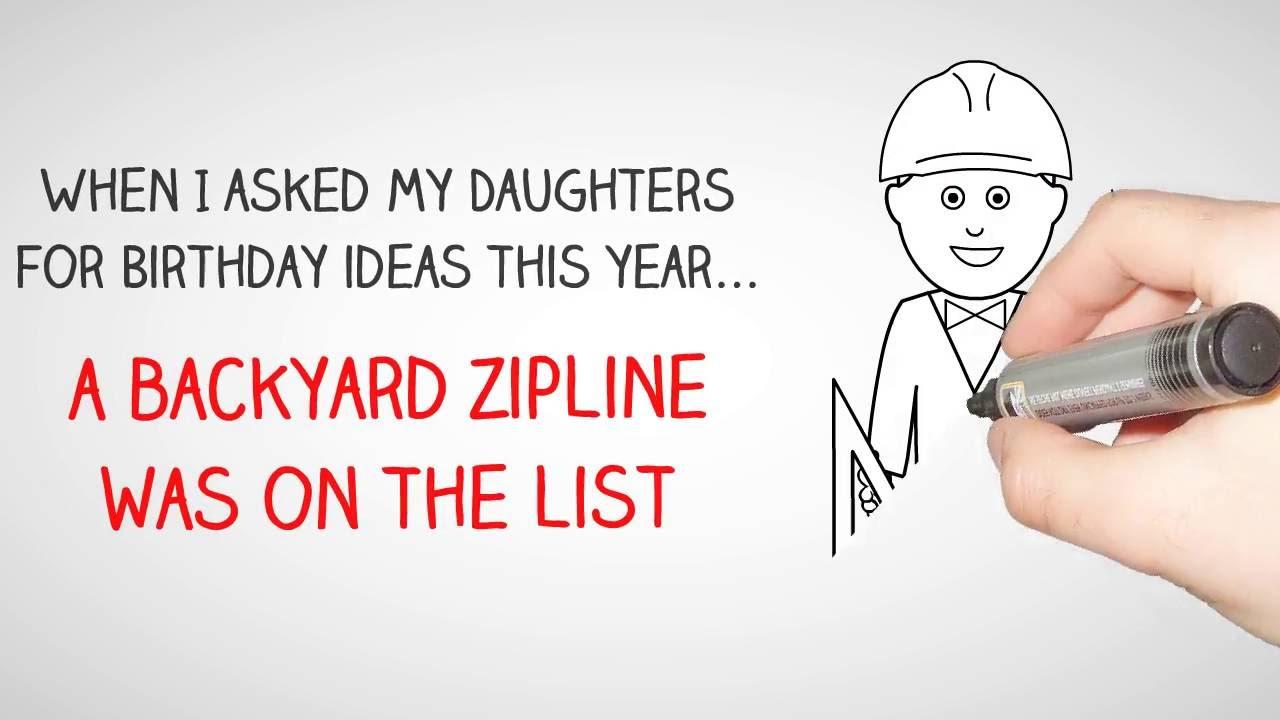 from backyard joe building a safe backyard zipline youtube