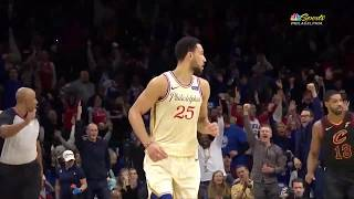 Ben Simmons Makes Second Career 3-Pointer Against Cavaliers