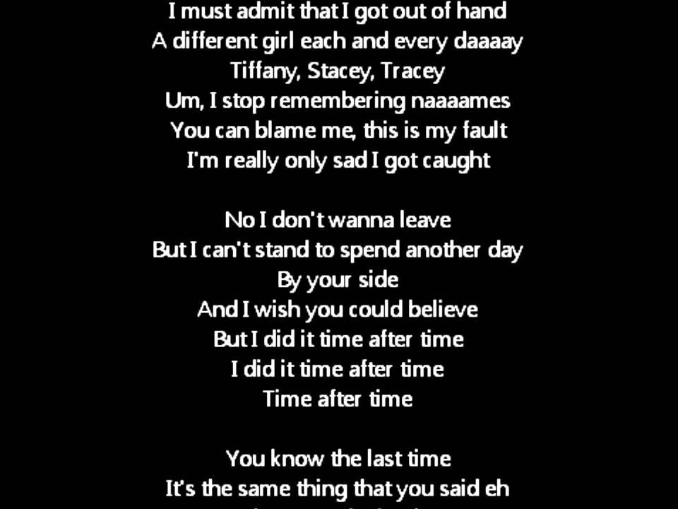 Angel - Time After Time Lyrics | MetroLyrics