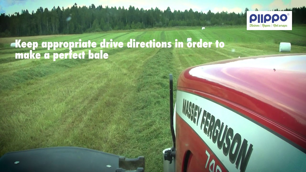 Round baling with Piippo Hybrid net wrap