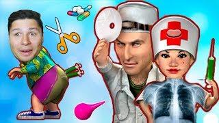 Приколы над доктором в игре КАК ДОСТАТЬ СОСЕДА смешная игра с приколами в больнице KIDS CHILDREN