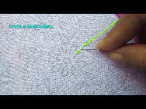 Hand Embroidery, Phulkari Dupatta Embroidery Tutorial