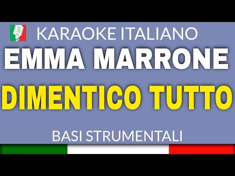 EMMA MARRONE - DIMENTICO TUTTO -STRUMENTI VERI - BASE KARAOKE ITALIANO 2014