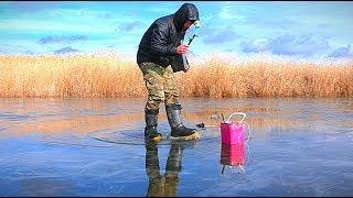 Я вышел на последний лёд САМЫЙ ОПАСНЫЙ Рыбалка на щуку Жерлицы Зимняя рыбалка