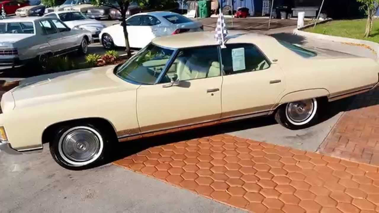 All Chevy 1971 chevrolet caprice for sale : 1971 Chevrolet Caprice 4dr @ Karconnectioninc.com Miami, FL - YouTube