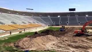 Notre Dame football field bulldozed