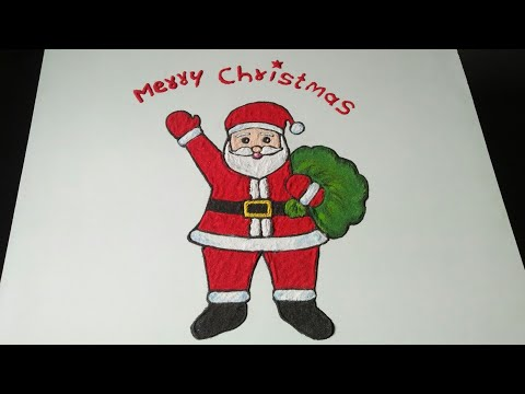 How to make SANTA CLAUS rangoli .Christmas Day Special Rangoli !!!by Madhuri Paithankar