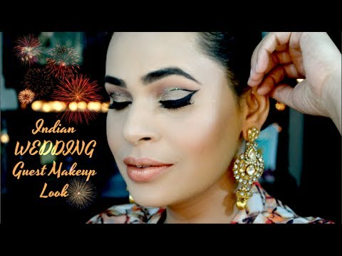 Indian Wedding Guest Makeup Look Graphic Liner Glitter Series