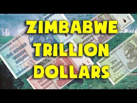 - Currency Of The World - Zimbabwe. Banknotes 10, 20, 50, And 100 Trillion Dollars