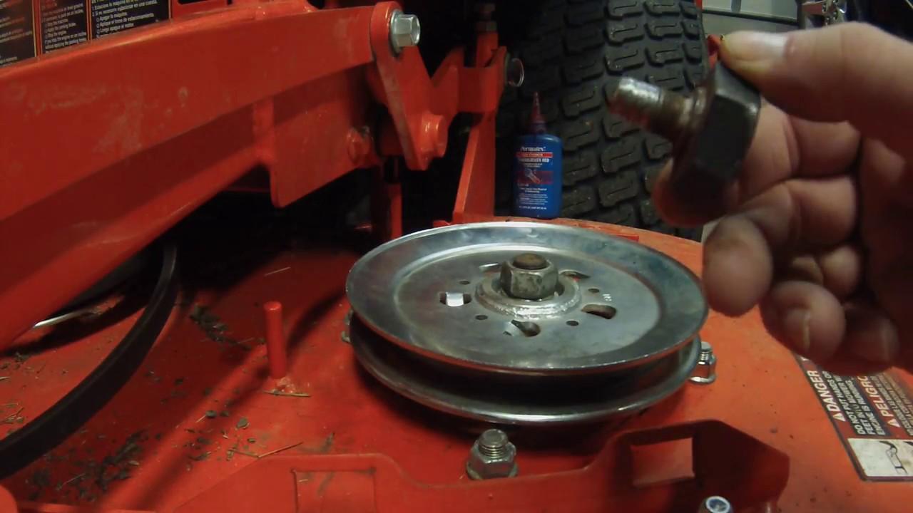 Fixing a spindle shaft on a zero turn mower ( kubota z725