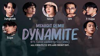 "BTS - ""Dynamite (MIDNIGHT REMIX)"" [Picture coded Lyrics ENG] by HanaKim"
