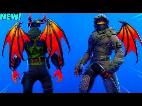 *NEW* DEMON WINGS Back Bling On All DARK Skins! (Showcase) Fortnite Battle Royale