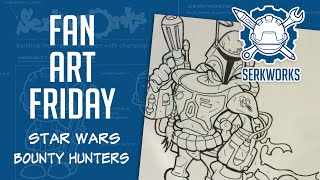Fan Art Friday: Star Wars Bounty Hunters