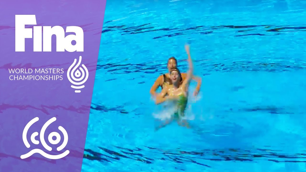 RE-LIVE - Synchro Day 5: Duet Free   FINA World Masters Championships 2017  - Budapest