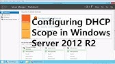 Windows Server 2012 DHCP Scope and Configuration - YouTube