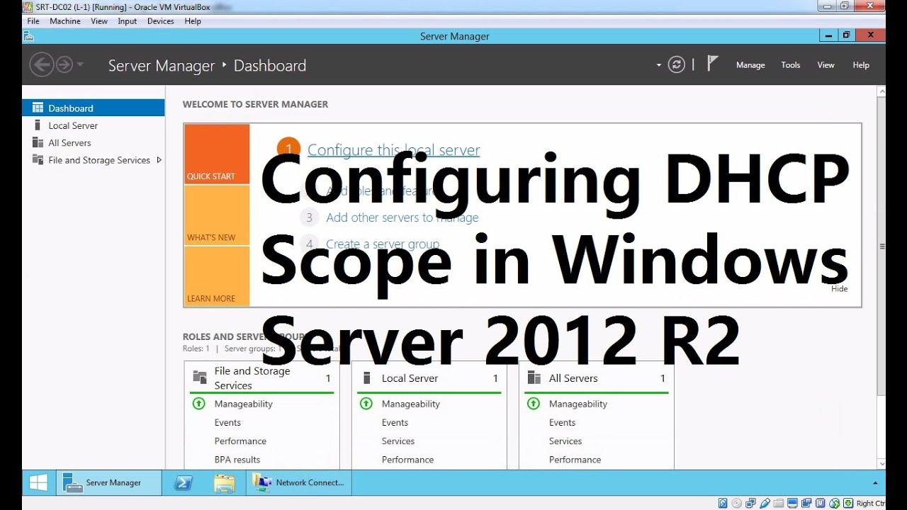 Dhcp server in windows 2012