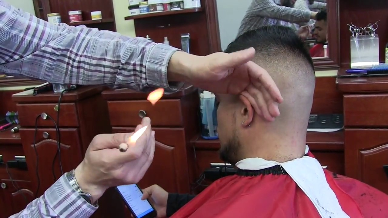Turkish Singeing How To Remove Hair With Fire Youtube