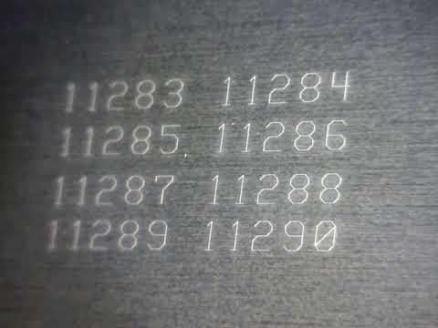 サムライUVレーザーを用いたSUSへの印字