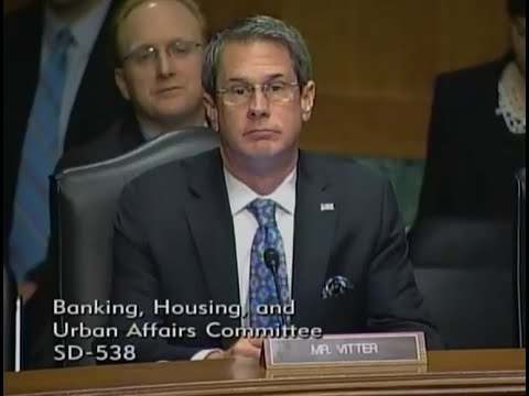 Vitter Pushes Higher Capital Requirements at Senate Banking Committee Hearing