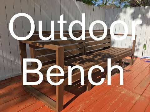 DIY Patio bench with 2x4