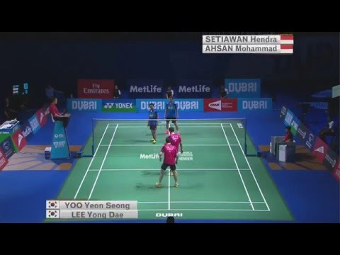 Dubai World Superseries Finals 2015 | Badminton SF M1-MD | Lee/Yoo vs Ahs/Set