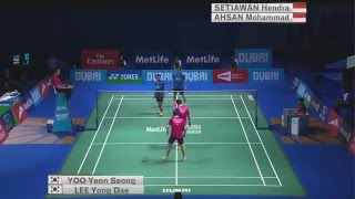 Dubai World Superseries Finals 2015 | Badminton SF M1-MD | Lee/Yoo vs Ahs/Set