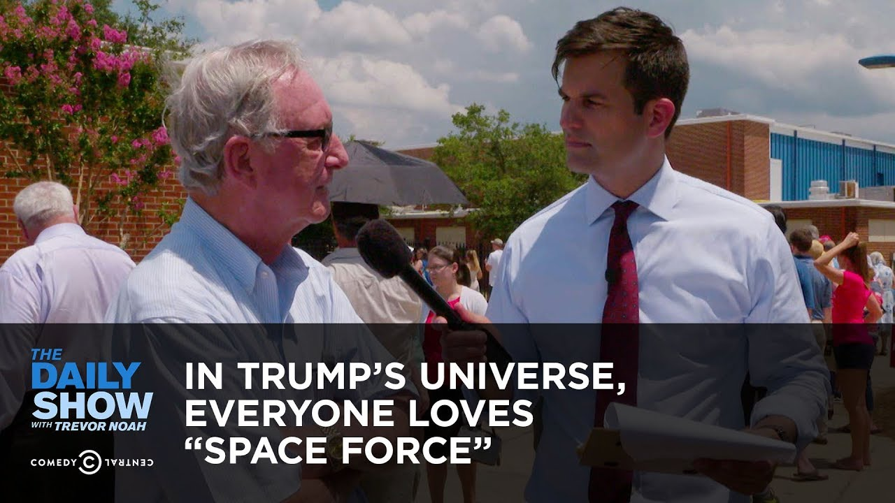 "In Trump's Universe, Everyone Loves ""Space Force"" 