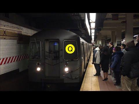 BMT Subway: (B) (Q) (R) (W) Train Action @ DeKalb Avenue (R46, R68, R68A, R160A-2, R160B)