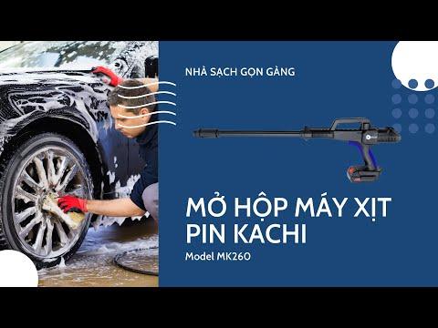 Máy phun xịt rửa di động không dây Kachi MK260 dùng pin
