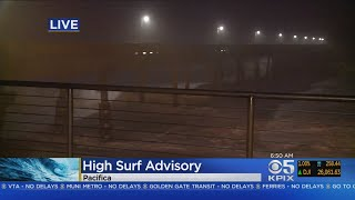 BIG WAVES: National Weather Service Issued High Surf Warning For The Coast Line