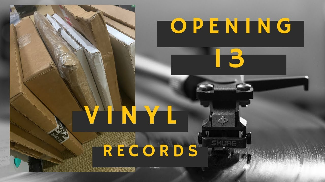 LATE NIGHT VINYL RECORD UNBOXING: 13 ALBUMS, LET'S TALK ABOUT EM