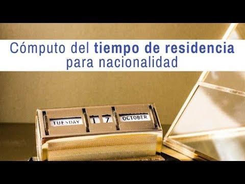 Contar el plazo de residencia legal para solicitar la nacionalidad española