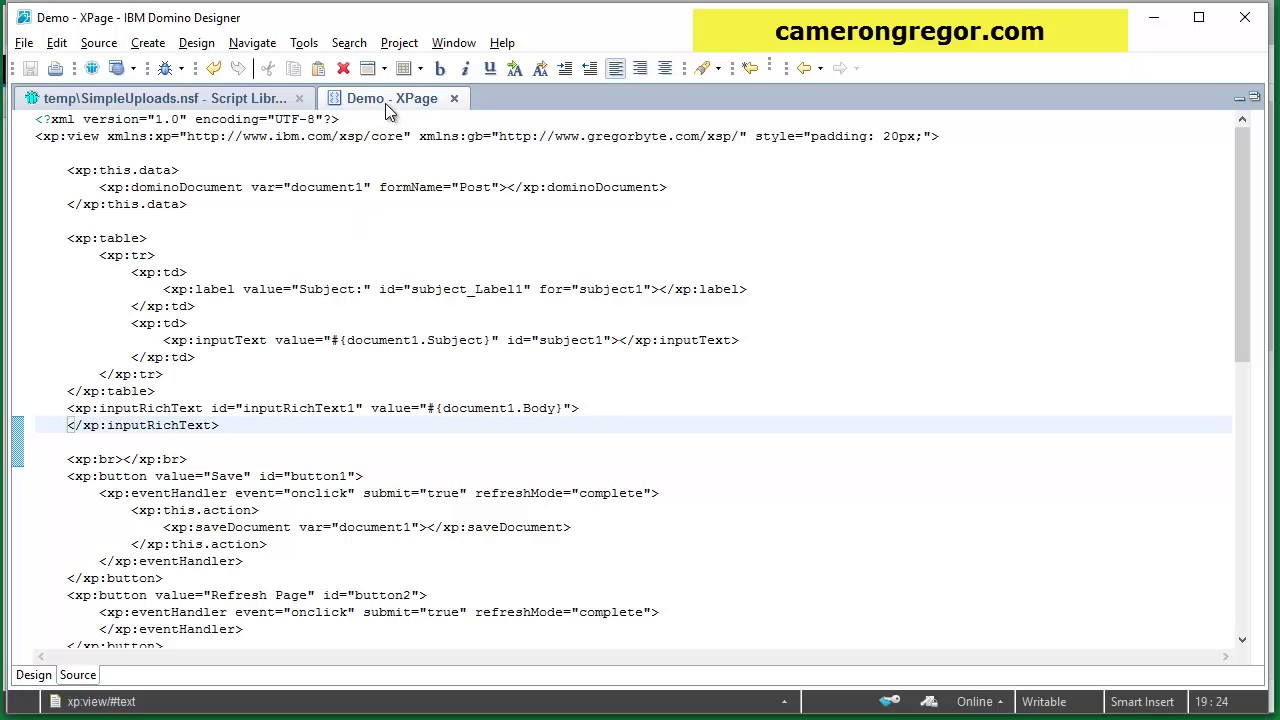 Pasting Images into XPages CKEditor Demo