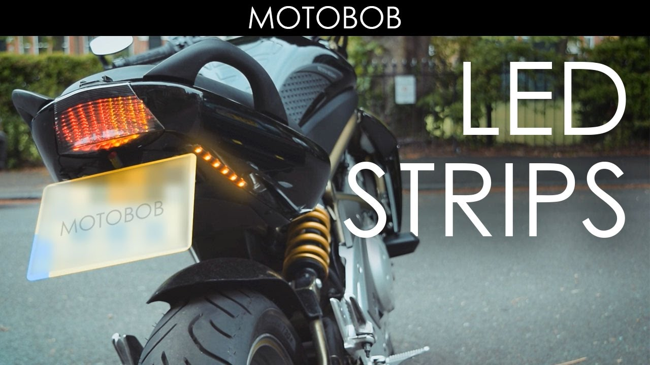 small resolution of extra adhesive led motorcycle indicator turn signal strips from ebay