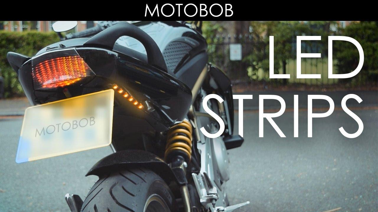 extra adhesive led motorcycle indicator turn signal strips from ebay [ 1280 x 720 Pixel ]