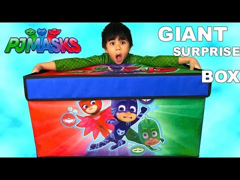 HUGE PJ Masks TOYS SURPRISE BOX OPENING FUN Owlette Catboy Gekko With TBTFUNTV
