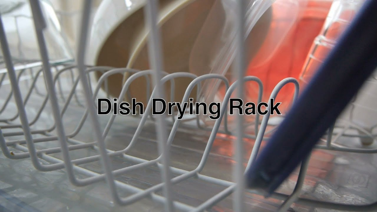 Dish Drying Rack Drainer w Tray For Best Storage of