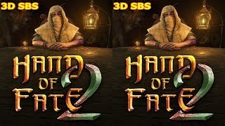 3D VR box video Hand of Fate 2 Side by Side SBS google cardboard