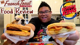 Burger King French Toast Breakfast Sandwiches | Food Review