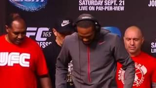Clima tranquilo na pesagem do UFC 165 entre Jon Jones e Gustafsson   combate   sportv com
