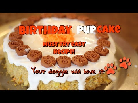 HOW TO MAKE A DOG BIRTHDAY CAKE Easy DIY Doggie Cake Recipe - Peanut Butter And Banana