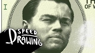 Wolf of Wall Street 2014 Oscar Best Picture Poster Speed Drawing HD