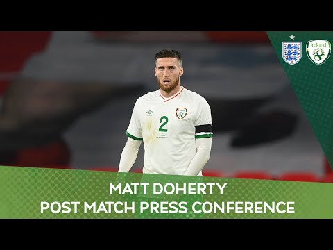 PRESS CONFERENCE | Ireland defender Matt Doherty on the 3-0 defeat to England