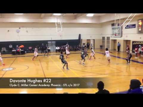Davonte Hughes #22 - Miller Career Academy Phoenix Basketball - STL
