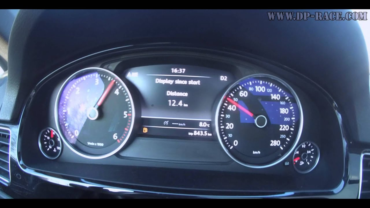 0-160KM/H VW Touareg 3 0TDI 295PS / 605Nm DIESELPOWER dyno tuning:  www dp-race com