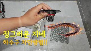 시골 하수구 냄새 벌레 방지 필수품 볼트랩 직접 설치 …