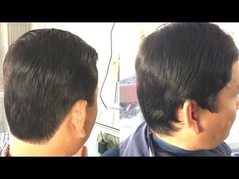 CẮT TÓC NAM |Chải Thấp(chân phương)Cho tuổi trung niên ,Đơn Giản Bình Dân | Men's Simple Haircut.