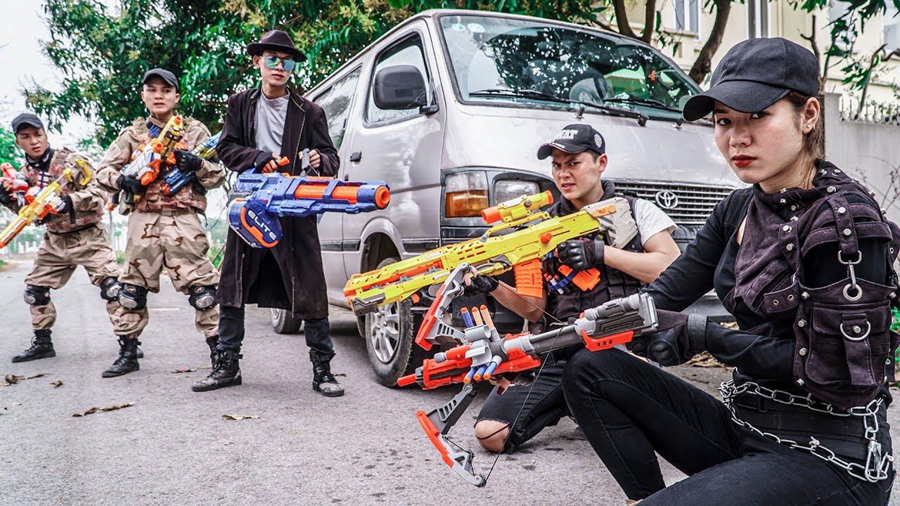 LTT Game Nerf War : Elite Patrol Police Warriors SEAL X Nerf Guns Fight Rocket Crazy Peace Keeping