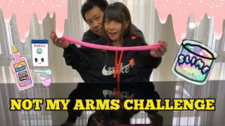 NOT MY ARMS CHALLENGE !! BIKIN SLIME !!